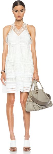 Chloé Diamond Lace Knit Dress - Lyst