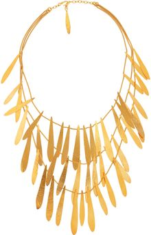 Herve Van Der Straeten Tiered Hammered Goldplated Brass Necklace - Lyst