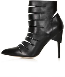 Topshop Angry Slash Boot - Lyst