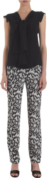 Derek Lam Featherprint Trousers - Lyst