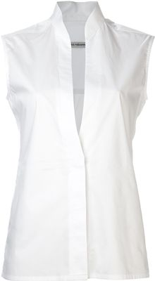 Paco Rabanne Sleeveless Poplin Top - Lyst