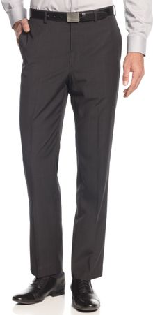 Calvin Klein Mini Check Dress Pants Slim Fit - Lyst