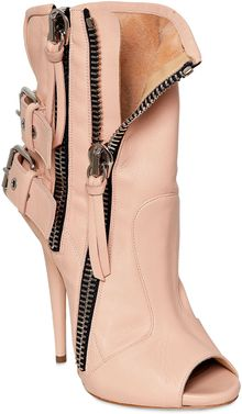 Giuseppe Zanotti 120mm Leather Biker Open Toe Boots - Lyst