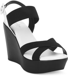 Charles By Charles David Riviera Platform Wedge Sandals - Lyst