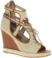 Surface To Air Canvas Leather Open Wedge Sandal - Lyst