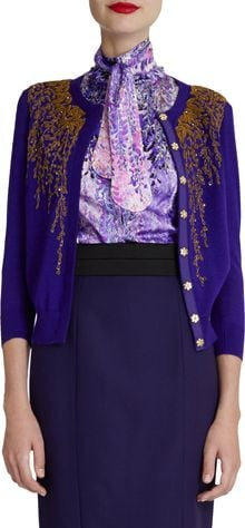 L'Wren Scott Wisteriabeaded Cardigan - Lyst