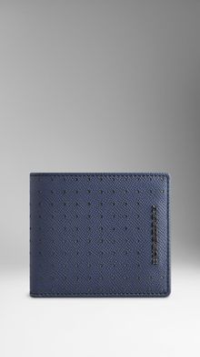 Burberry Perforated Colour Leather Wallet - Lyst