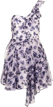 Topshop Floral One Shoulder Prom Dress - Lyst