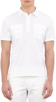 Ralph Lauren Black Label Epaulette Polo Shirt - Lyst