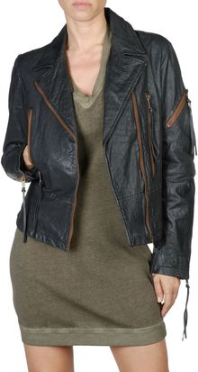 Diesel Lnix Leather Jacket - Lyst