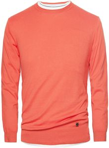 He By Mango Raw Edge Cotton Sweater - Lyst