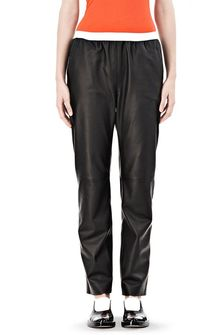 Alexander Wang Leather Pants with Elastic Waistband - Lyst