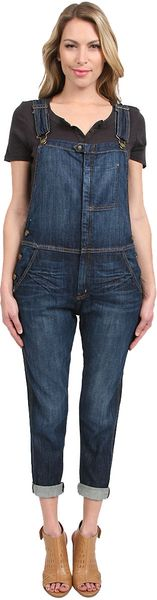 Current/Elliott The Ranchhand Denim Cveralls in Indigo - Lyst