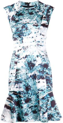 Yigal Azrouel Flower Print Dress - Lyst
