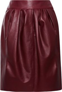 Nina Ricci Leather Skirt - Lyst