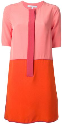Victoria Beckham Twotone Dress - Lyst