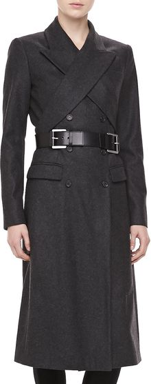 Michael Kors Wool Crisscross Doublebreasted Coat - Lyst