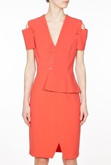 Marios Schwab V Neck Peplum Dress - Lyst