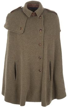 Ralph Lauren Yoke Detail Cape - Lyst