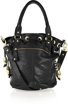 Sara Berman Stevie Studded Leather Bucket Bag - Lyst