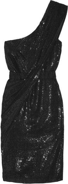 Thurley Galaxy Embellished Silk One-shoulder Dress - Lyst