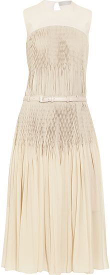 Preen Gatsby Pleated Silk-georgette Dress - Lyst