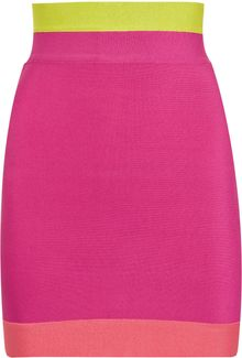 Hervé Léger Color-block High-waisted Mini Skirt - Lyst