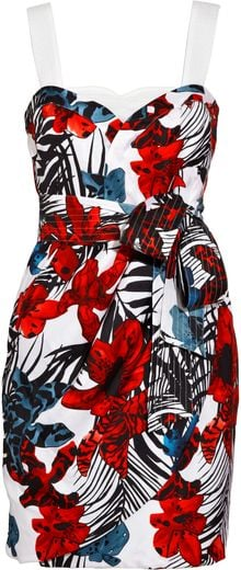 See By Chloé Convertible Printed Silk-twill Dress - Lyst