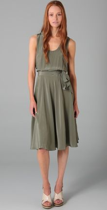 Marc By Marc Jacobs Simone Solid Silk Dress - Lyst