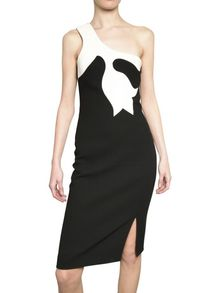 Versace Double Crepe Wool Dress - Lyst
