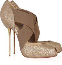 Christian Louboutin Big Dorcet 120 Textured-leather Pumps - Lyst