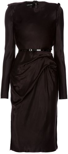 Lanvin Archive Seam Detail Dress - Lyst