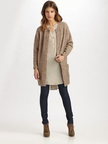Acne Long Open Mohair Cardigan - Lyst