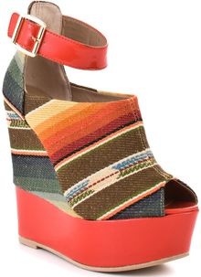 Steve Madden Kennyya - Orange Fabric - Lyst