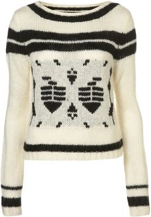 Topshop Knitted Fairisle Patterned Jumper - Lyst