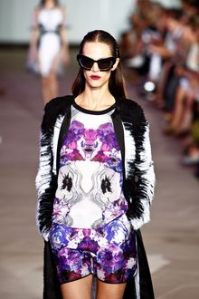 Prabal Gurung Spring 2012 White and Purple Print Playsuit - Lyst