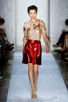 Suno Spring 2012 Red Metallic Skirt - Lyst