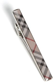 Burberry Check Enamel Tie Bar - Lyst