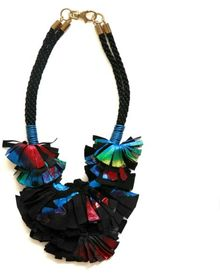 Elvira Sazesh Multi Metallic Necklace - Lyst