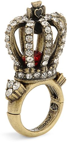 Betsey Johnson Royal Engagement Large Crown Ring - Lyst