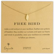 Dogeared Reminder - Free Bird Feather Necklace - Lyst