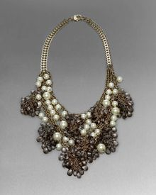 St. John Beaded Statement Necklace - Lyst