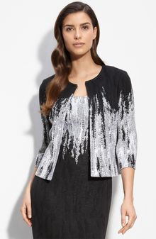 St. John Evening Embellished Dégradé Jacquard Knit Jacket - Lyst
