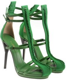 3.1 Phillip Lim Regine Leather Strap Heels with Braided Details - Lyst