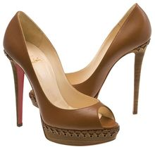 Christian Louboutin Lady Indiana Braided Leather Platform Pumps - Lyst