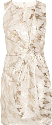 Thurley Metallic Jacquard Dress - Lyst