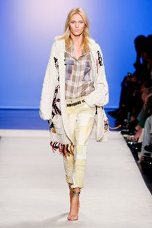 Isabel Marant Spring 2012 Yellow Denim Patchwork Cropped Pants - Lyst