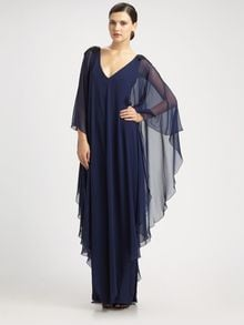 Notte By Marchesa Silk Caftan Gown - Lyst