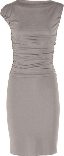 Giambattista Valli Ruched Wool-blend Dress - Lyst