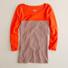 J.Crew Perfect-fit Colorblock Tee - Lyst